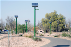 Glass solar panels for solar street lights
